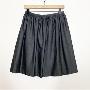 [Stile Benetton] Gray Gathered Flared Mini Skirt